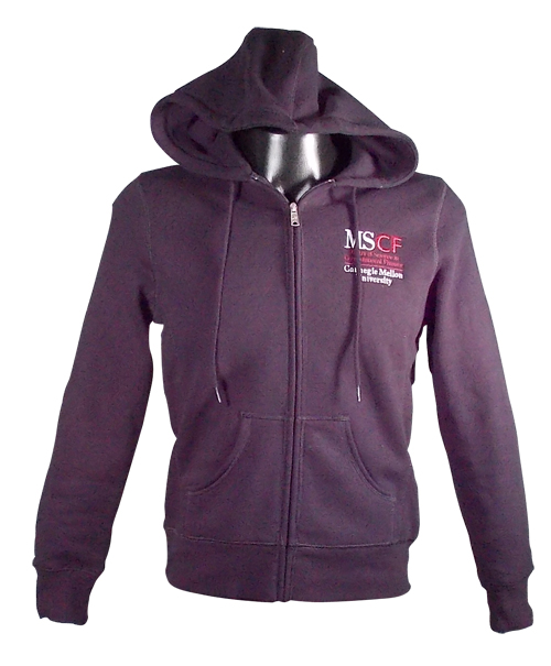 Sweatshirt: Ladies MSCF Black Zip Hooded