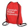Drawstring Heavyweight Bag: Red or Black thumbnail