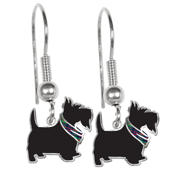 Earrings: Scotties