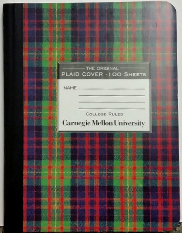 Composition Book: CMU Plaid