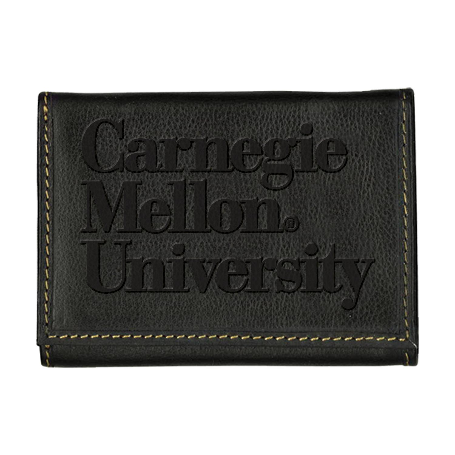 Carolina Sewn Black Wordmark Wallet