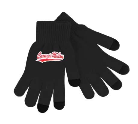 Gloves: Basic Knit Text Black