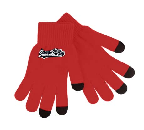 Gloves: Basic Knit Text Cardinal