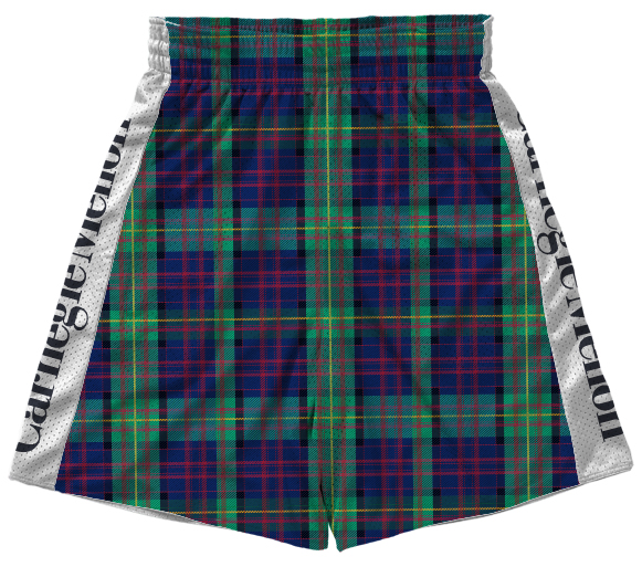 Flow Shorts: White and Tartan