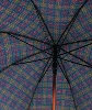 Two Layer Umbrella: Black and Plaid thumbnail