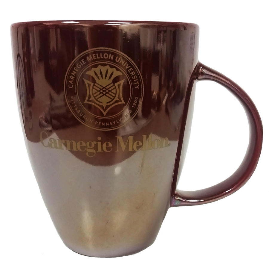 Mug: Lustrous Maroon with Gold Seal 18oz