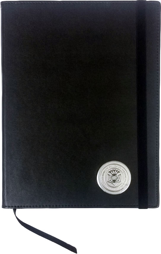 Large Journal with Seal: Black