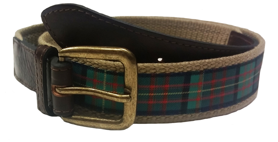 Belt: Plaid & Brown 44/46