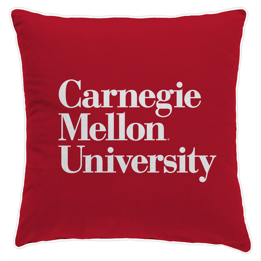 Carnegie Mellon Wordmark Pillow: 22x22