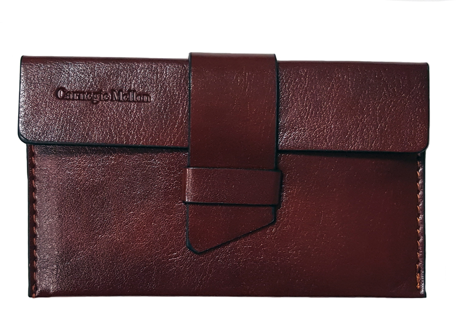 Business Card Holder: Brown