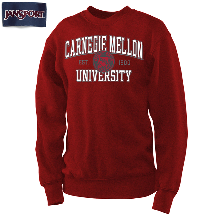 Faux Seal Sweatshirt: Cardinal