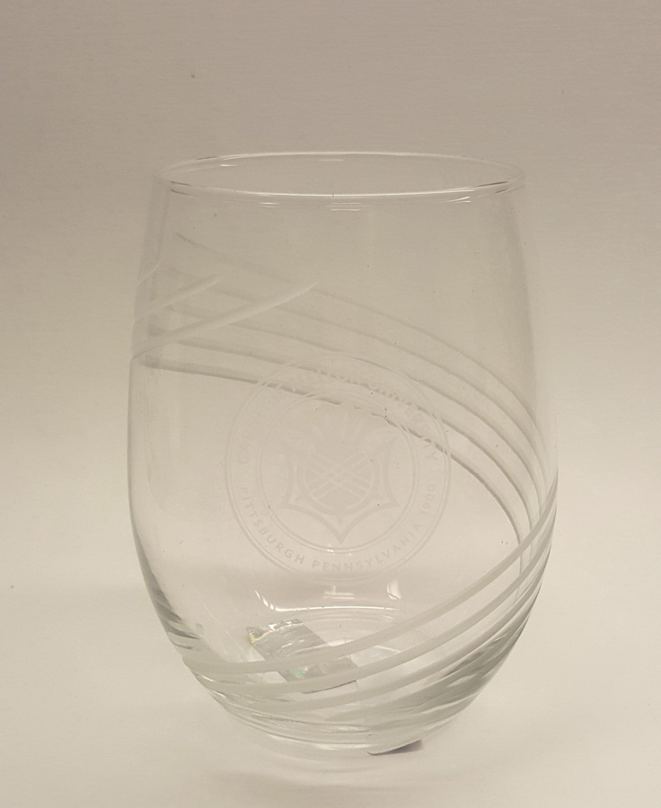 Stemless Wine Glass with Seal: 21oz