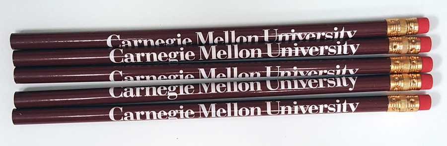 Pencils: Burgundy 5-pack