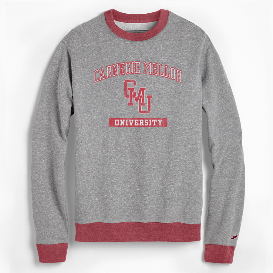 Triblend College Sweatshirt: Red