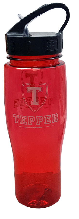 Tepper Water Bottle: Cardinal
