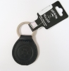 Leather Carolina Sewn Keyfob: Black thumbnail