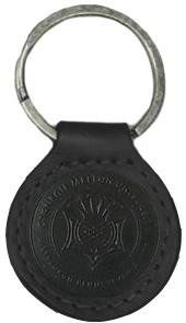 Leather Carolina Sewn Keyfob: Black
