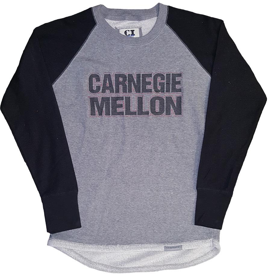 Hi Low Reverse Weave Sweatshirt: Charcoal