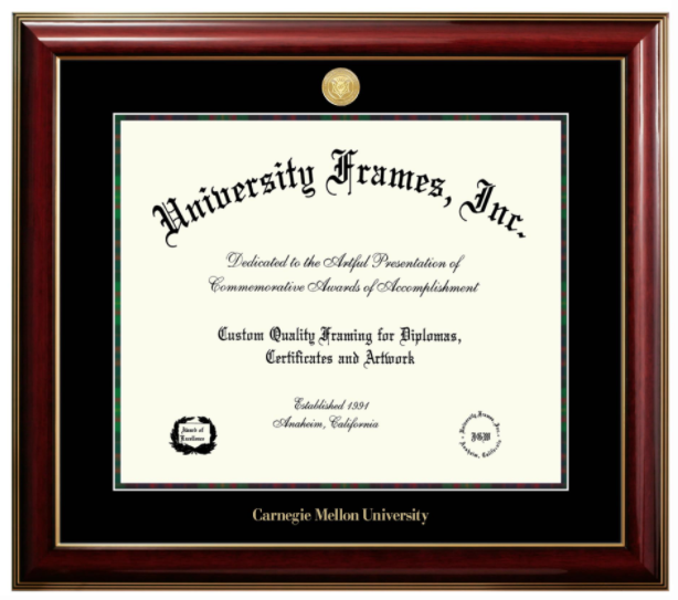 University Frames Diploma Frame: Classic Medallion Tartan
