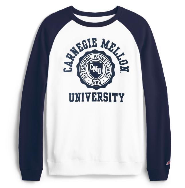 Springtime Raglan Sweatshirt: Navy