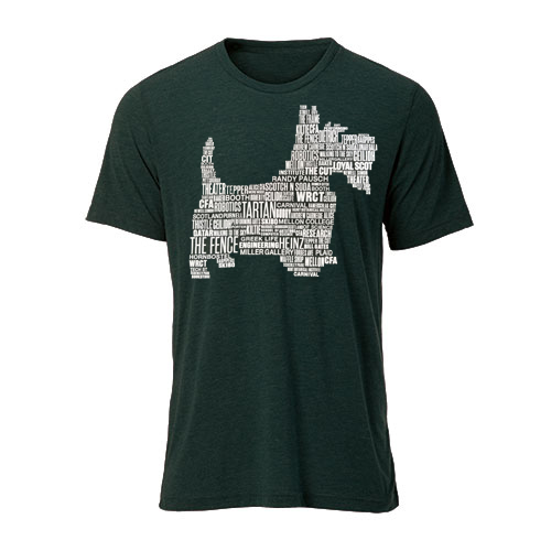 Scotty Word Cloud Tee: Hunter Green