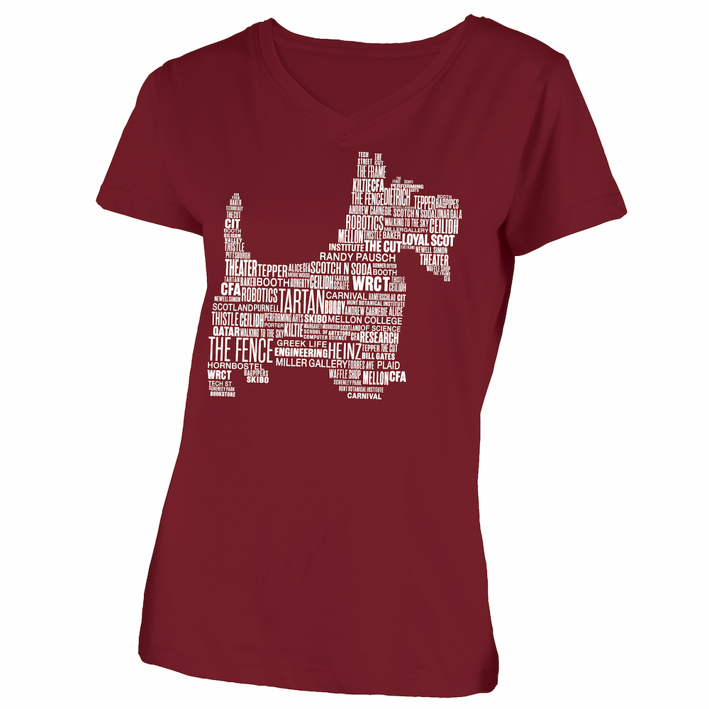 Scotty Word Cloud Tee: Cardinal