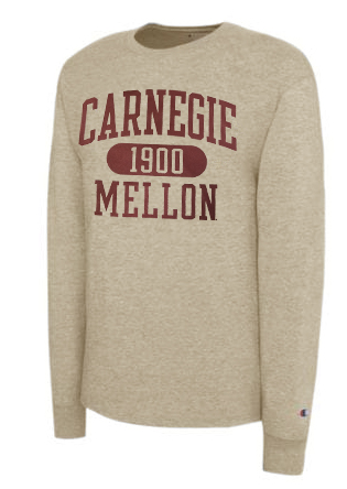 CMU Long Sleeve Tee: Khaki