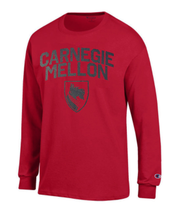 CMU Long Sleeve Tee: Cardinal