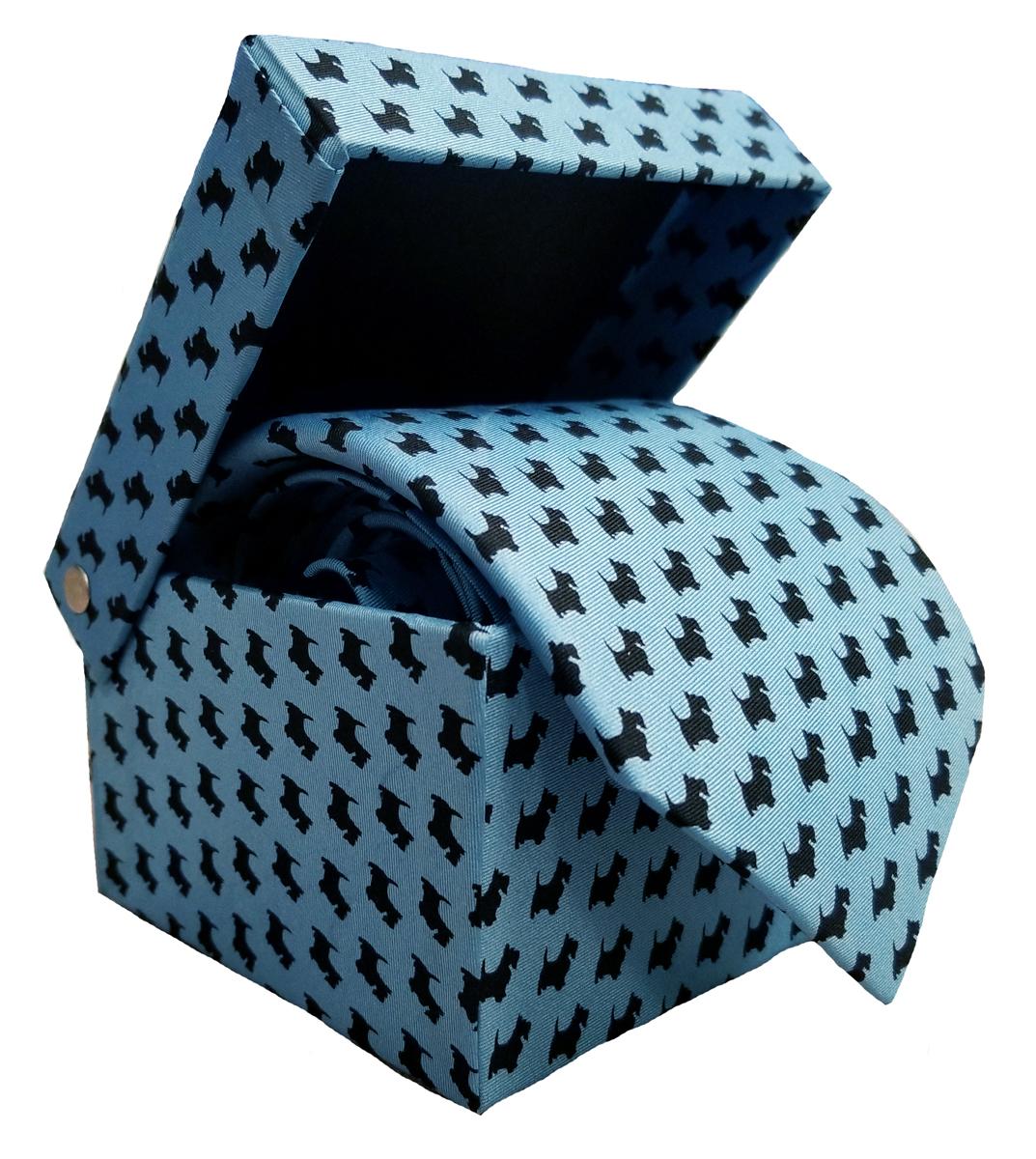 Tie: Scotty Pattern Blue