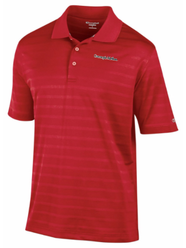 Champion Textured Polo: Cardinal