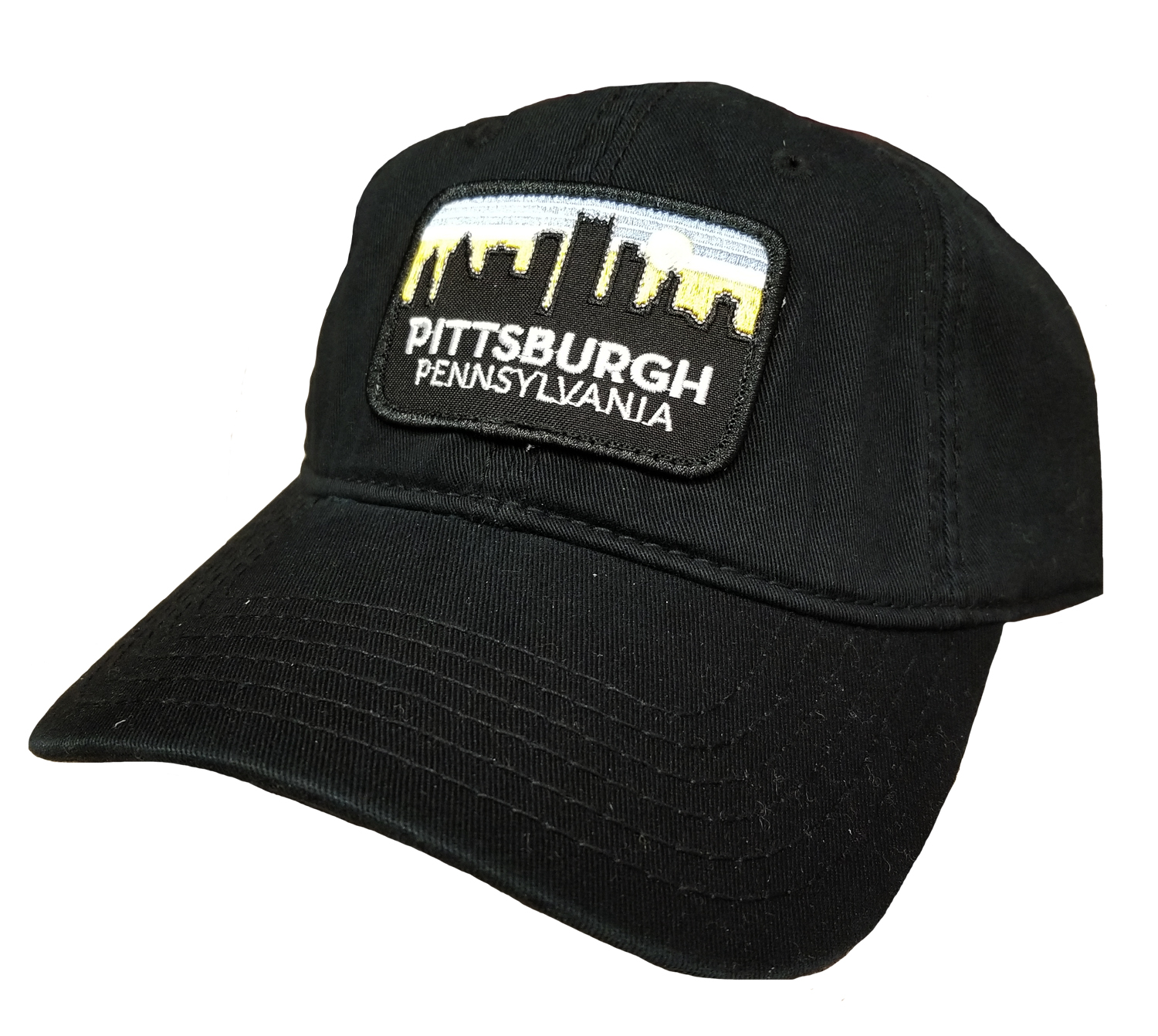 Pittsburgh Skyline Hat: Black