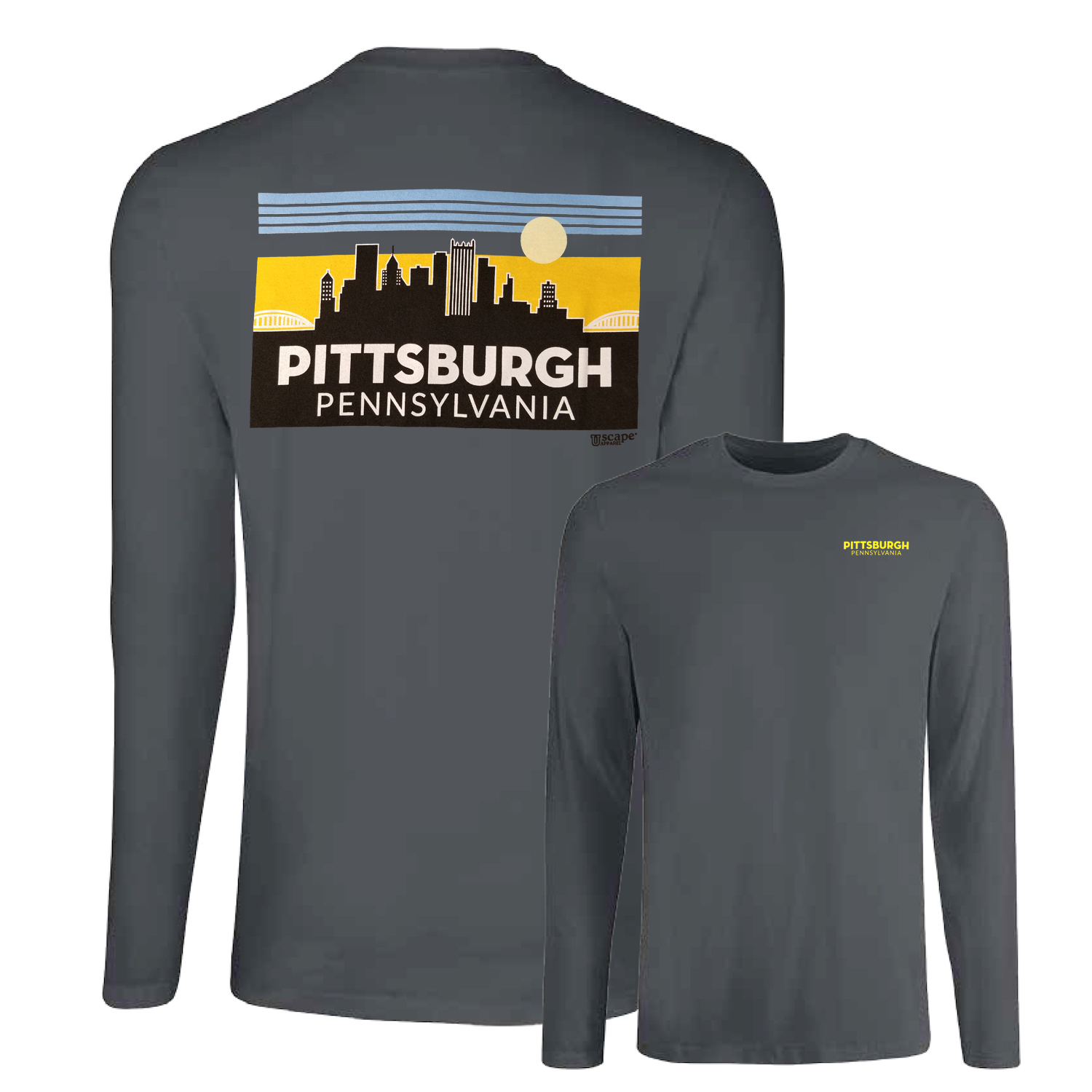 Pittsburgh Skyline Tee: Charcoal