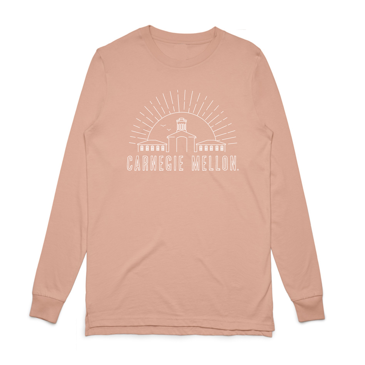 Skyline Long Sleeve Tee: Pink