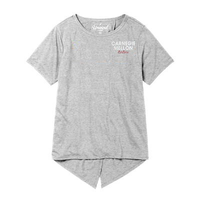 Unwind Back Tie Tee: Oxford