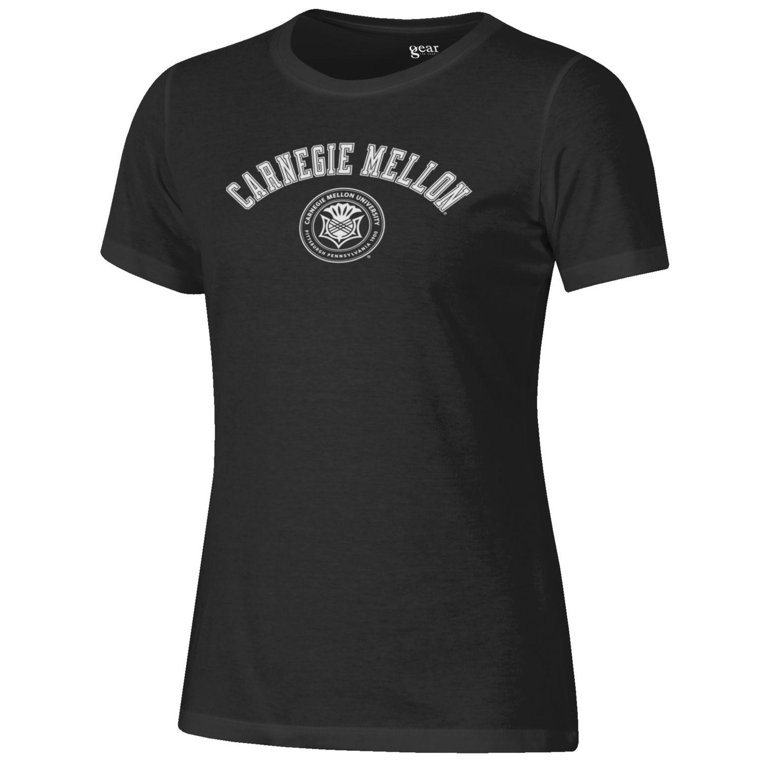 Relax Fit University Seal Tee: Black