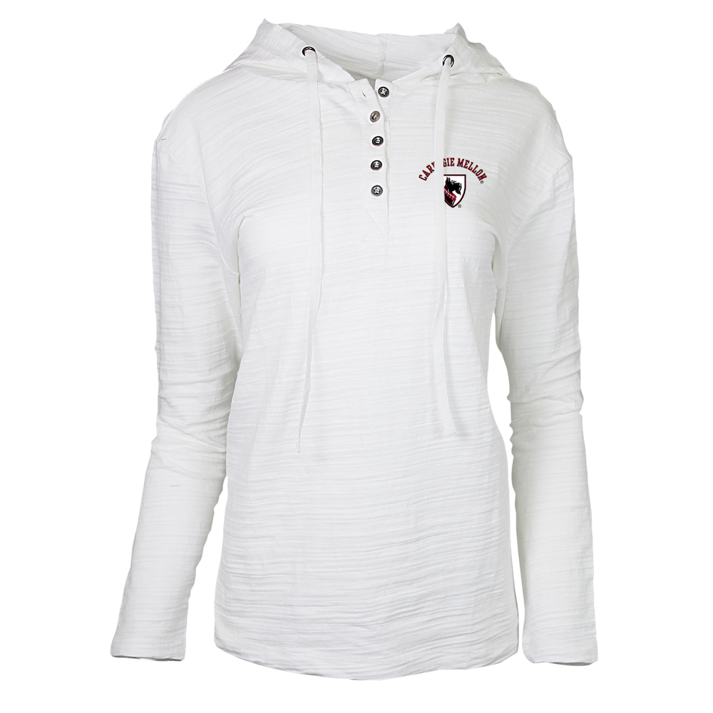 Radiance Hooded Henley: White