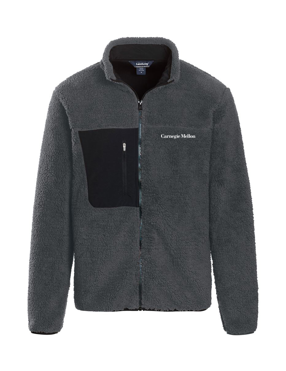Sherpa Full Zip Jacket: Charcoal