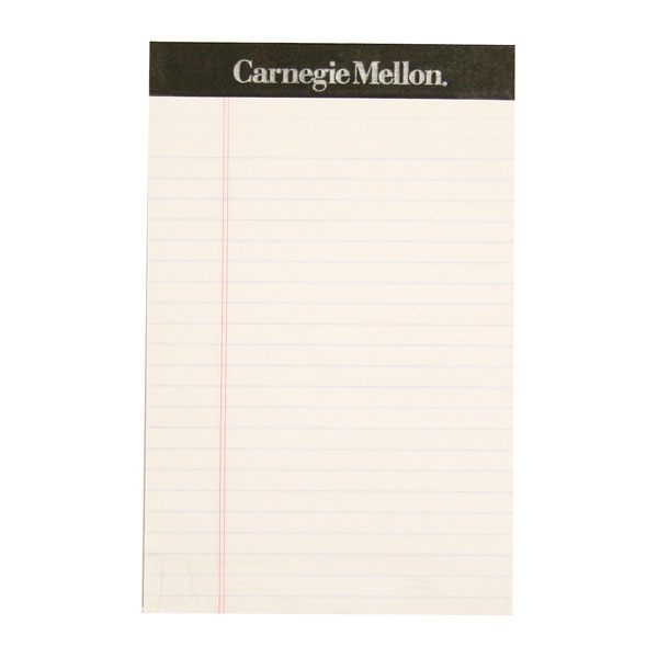 "Carnegie Mellon Writing Pad 5"" X 8"""