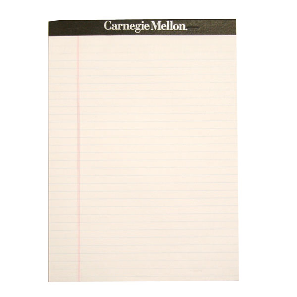 "Carnegie Mellon Writing Pad 8.5"" x 11"""