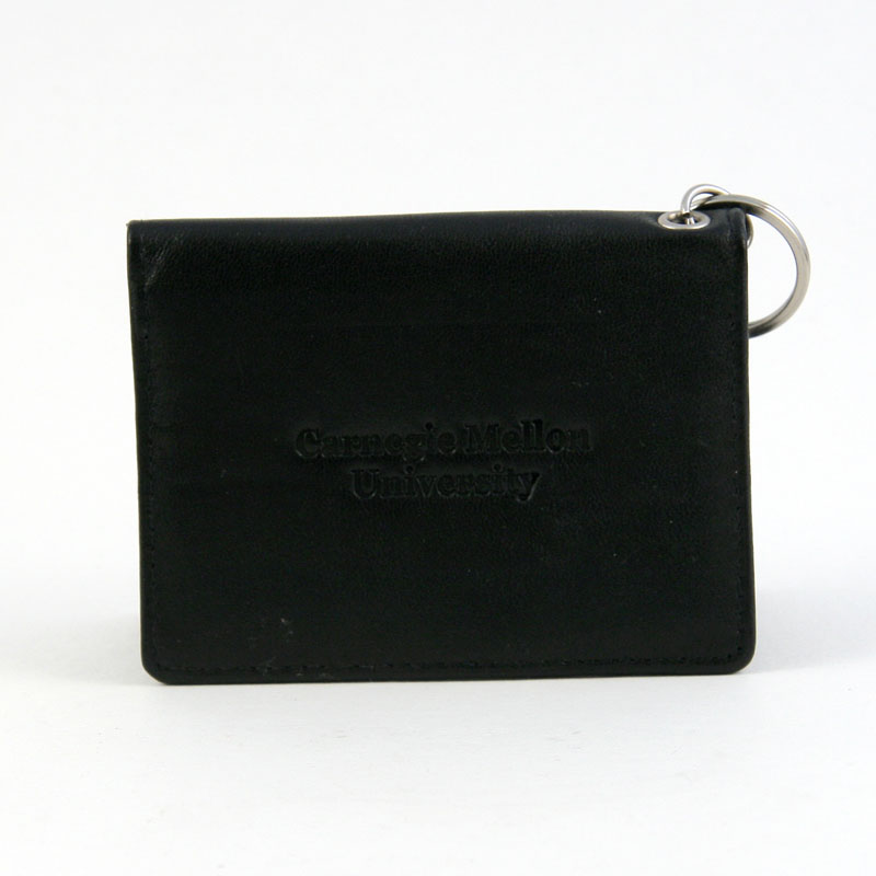 BLACK LEATHER ID HOLDER