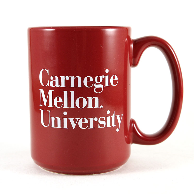 Mug: 3-Line Wordmark Red