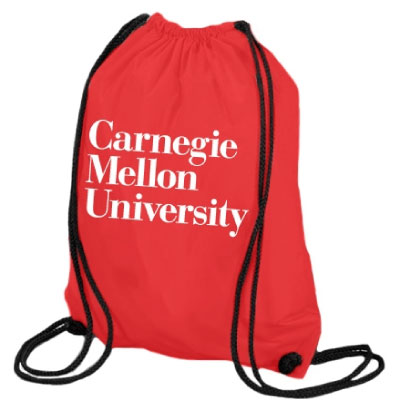 Image For Drawstring Heavyweight Bag: Red or Black