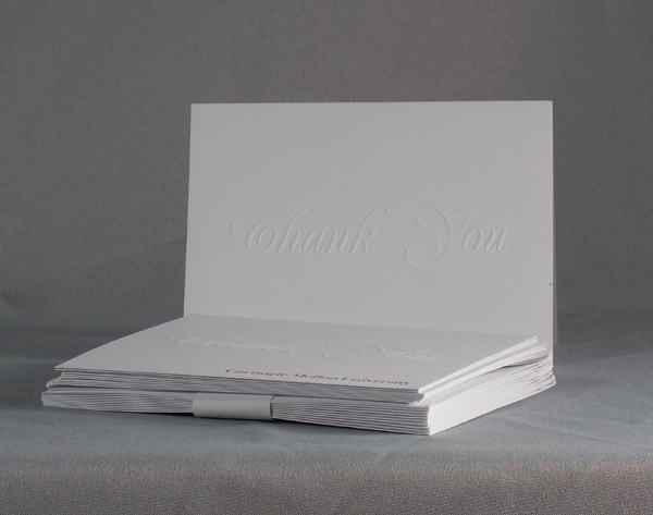 Image For THANK YOU CARDS WHITE