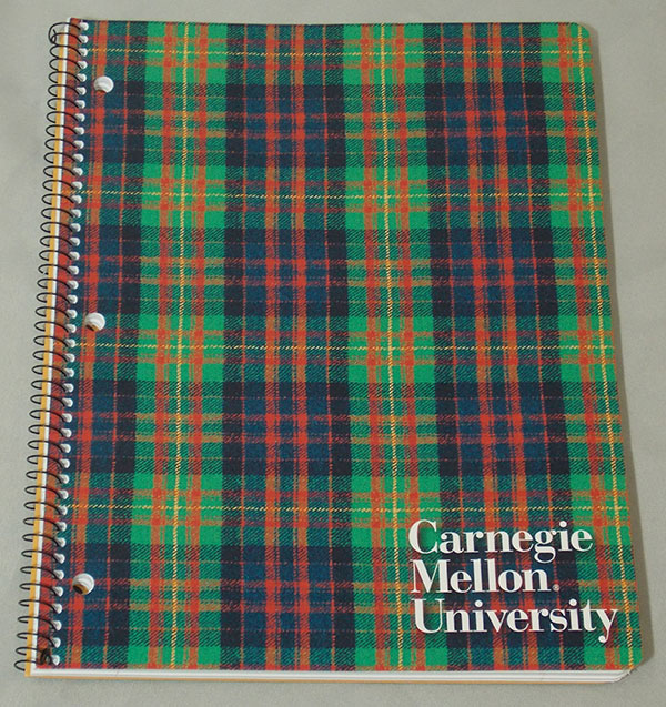 Image For <notebook>Carnegie Mellon Notebook: Plaid