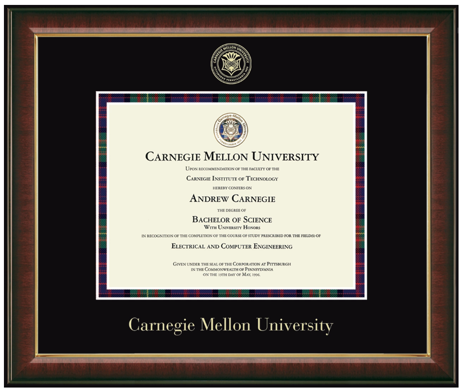 Image For <chi>Embossed Murano Diploma Frame