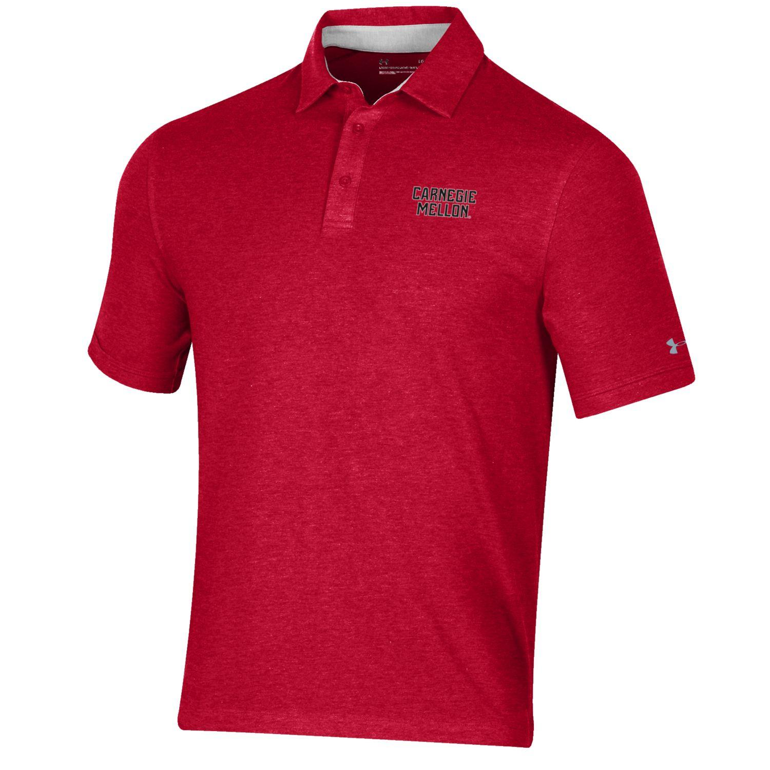 Image For <polo>Under Armour Charged Cotton Polo: Red