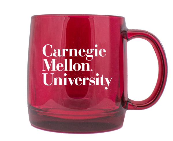 Image For <mug>Mug: Red Glass 3 Line Wordmark
