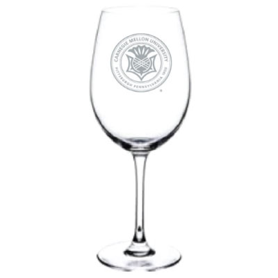 Image For <glass>Glassware: Wine Glass with White Seal 19oz
