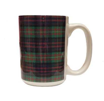 "Cover Image For <mug>Tartan Mug<font color=""#eb3434""> Was: $10.99</font>"