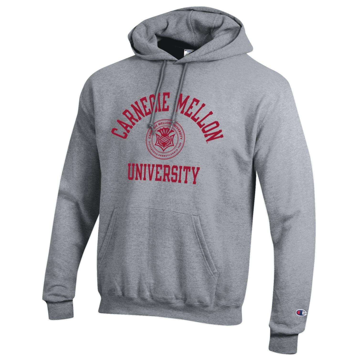 Image For <hood>Champion Powerblend CMU Seal Hoodie: Oxford